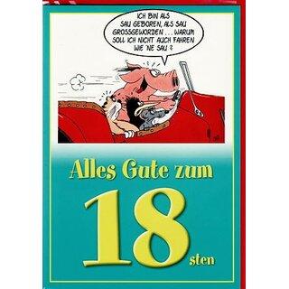 Uli Stein Witzige Geburtstagskarte Zum 18