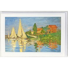 Kunstkarte Monet: Regatta in Argenteuil