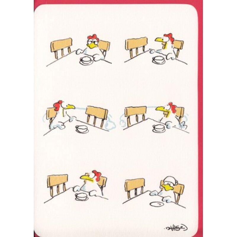 Witzige Grußkarte Du fehlst mir - Huhn