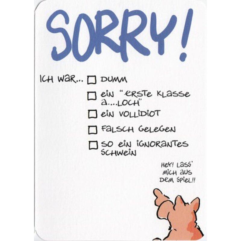 Grußkarte Sorry Entschuldigung Tut mir leid