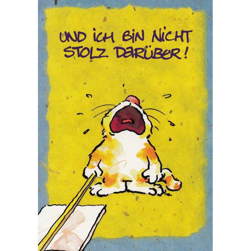 Geburtstagskarte Sorry Zu Spat Katze