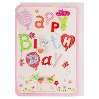 Happy Birthday Card Ballons Und Geschenke Bunt Handmade