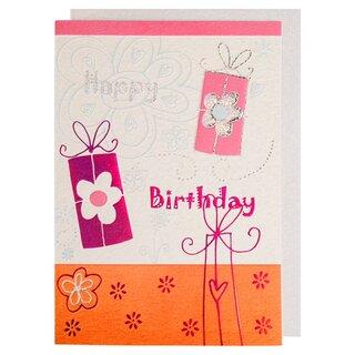Happy Birthday Card Tanzende Geschenke Mit Glitzer Und Metalleffekten