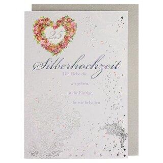 Gluckwunschkarte Zur Silberhochzeit 25 Hochzeitstag Mit Spruch