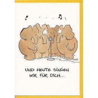Witzige Geburtstagskarte Elefanten Wir Singen Fur Dich