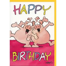 Happy Birtday Karte Witziger Schweinechor