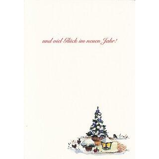 Gemalte Weihnachtskarten.Weihnachtskarte Gemalt Türkranz Und Laterne