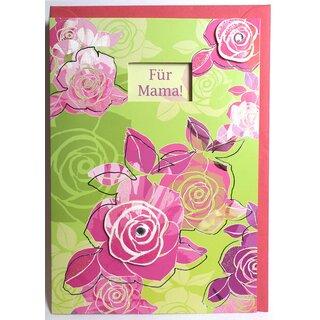 Muttertag Karte.Muttertagskarte Für Mama Einen Schönen Muttertag Pink Grün Mit Fenster