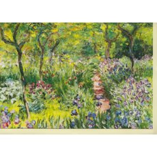 Kunstkarte Monets Garten in Giverny, 1900