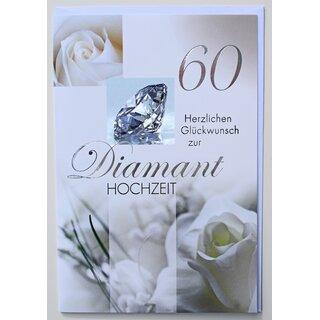 Gluckwunschkarte Diamanthochzeit 60 Hochzeitstag