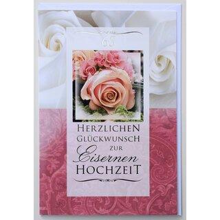 Gluckwunschkarte Eiserne Hochzeit 65 Jahre Hochzeitstag