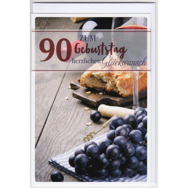 Geburtstagskarte zum 90 geburtstag brot und wein - Geburtstagsideen zum 90 ...