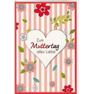 Muttertag Karte.Muttertagskarte Herz Alles Liebe