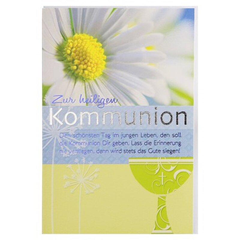 Gluckwunschkarte Zur Heiligen Kommunion Mit Spruch