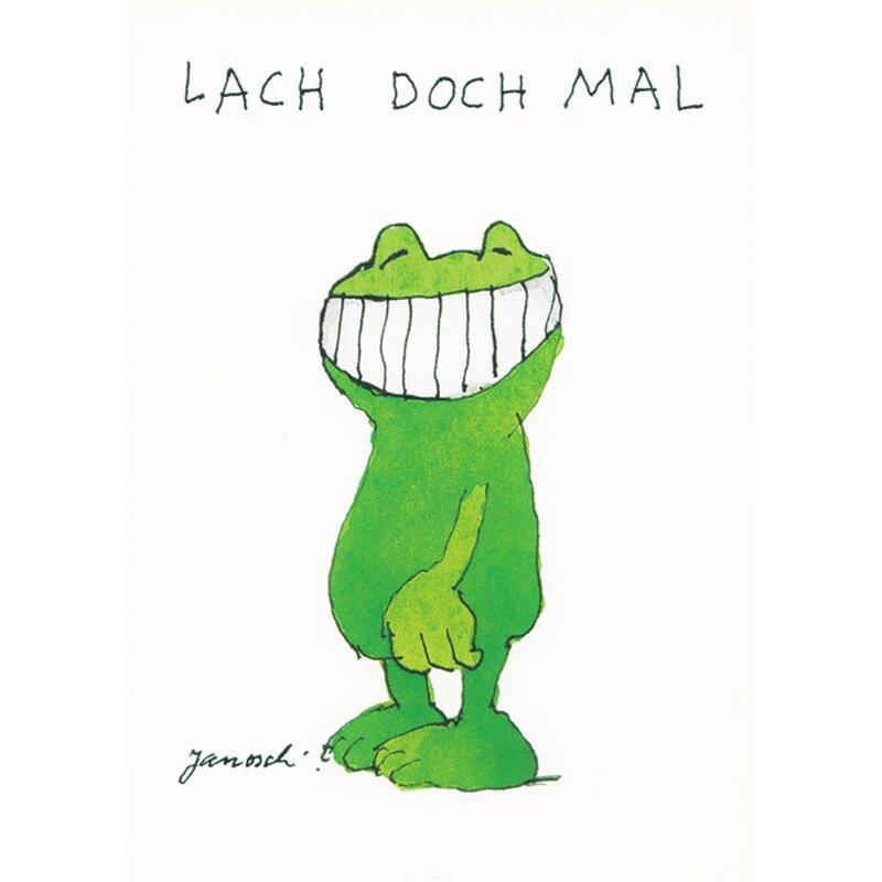 Postkarte Janosch Lach doch mal