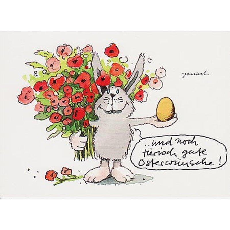 janosch postkarte ostern tierisch gute osterwünsche, Einladung