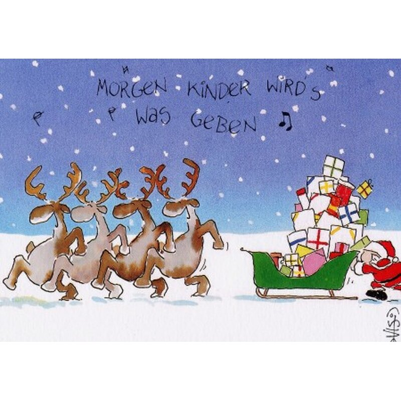 Witzige weihnachtspostkarte verkehrte welt - Bilder weihnachtspost ...