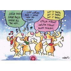 WeihnachtsPOSTkarte Jingle Bells...