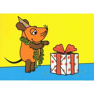 Die Maus Postkarte Geburtstagsgeschenk