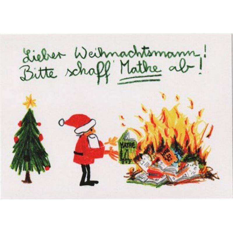 witzige weihnachtspostkarte mathe. Black Bedroom Furniture Sets. Home Design Ideas