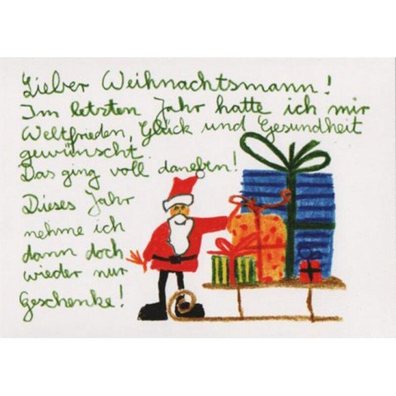 Witzige weihnachtspostkarte gl ck und gesundheit - Lustige weihnachtskarten kostenlos ausdrucken ...