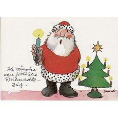 janosch weihnachtspostkarte weihnachtsmann tanzt mit engel. Black Bedroom Furniture Sets. Home Design Ideas