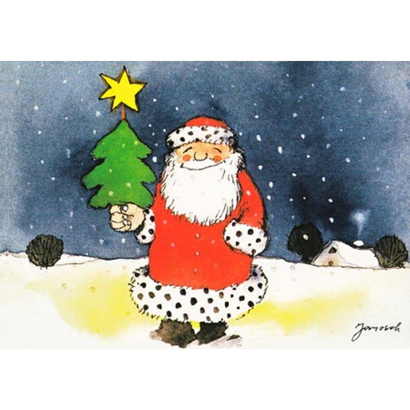 janosch weihnachtspostkarte lachender weihnachtsmann. Black Bedroom Furniture Sets. Home Design Ideas