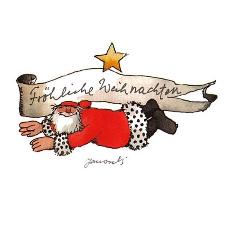 janosch weihnachtspostkarte fr hliche weihnachten. Black Bedroom Furniture Sets. Home Design Ideas