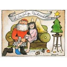 janosch weihnachtspostkarte b r und tiger fahren schlitten. Black Bedroom Furniture Sets. Home Design Ideas