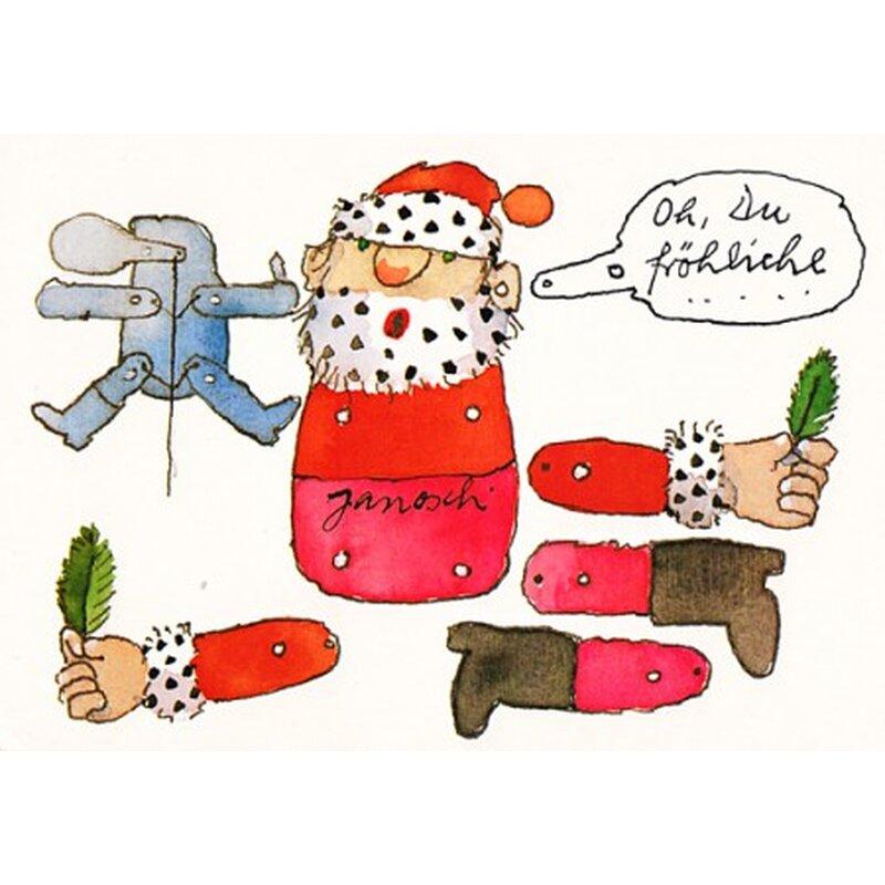 janosch weihnachtspostkarte weihnachts hampelmann zum basteln. Black Bedroom Furniture Sets. Home Design Ideas