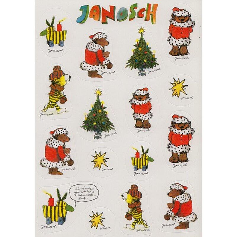 janosch sticker postkarte tiger b r und tigerente in. Black Bedroom Furniture Sets. Home Design Ideas