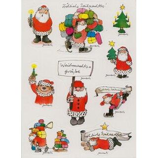 Weihnachtsgrüße Postkarte.Janosch Sticker Postkarte Weihnachtsgrüße Mit Bunten Geschenken
