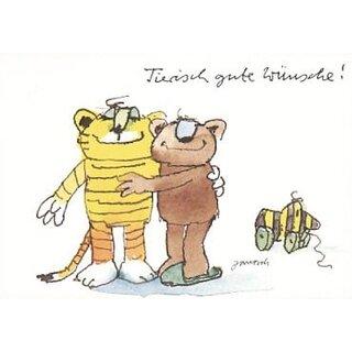 Janosch Geburtstagspostkarte Tierische Wünsche