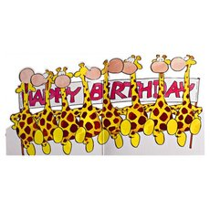 Birthday Card Giraffe Dance Time to Party