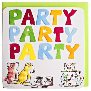 Birthday Card Cats Party Party Party