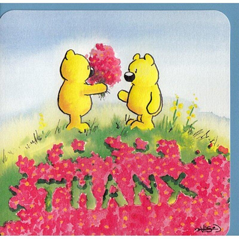 süße dankkarte danke englisch thanx, Einladungen
