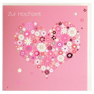 Hochzeitskarte Herz Aus Blumen