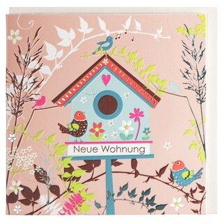 Gluckwunschkarte Zum Einzug Neue Wohnung Vogelhaus