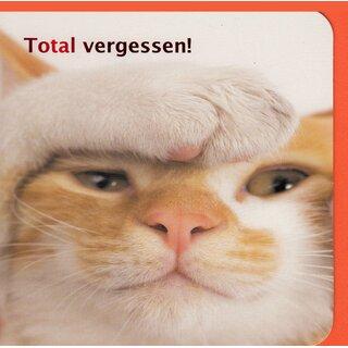 Geburtstagskarte Nachtraglich Verspatet Total Vergessen Katze