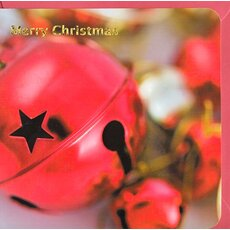 Holiday Card Merry Christmas Happy New Year Bells in Red
