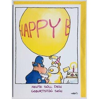 A4 Xxl Maxi Geburtstagskarte Witzig Polizei Gratuliert