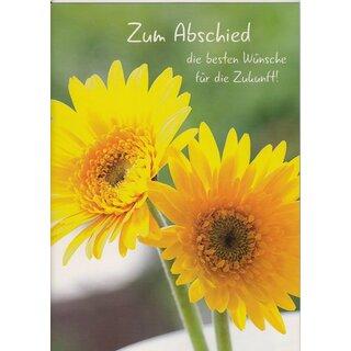 A4 Abschiedskarte Blumen Die Besten Wünsche