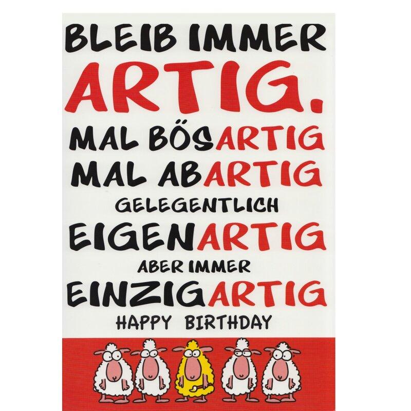 Geburtstagskarte Spruch