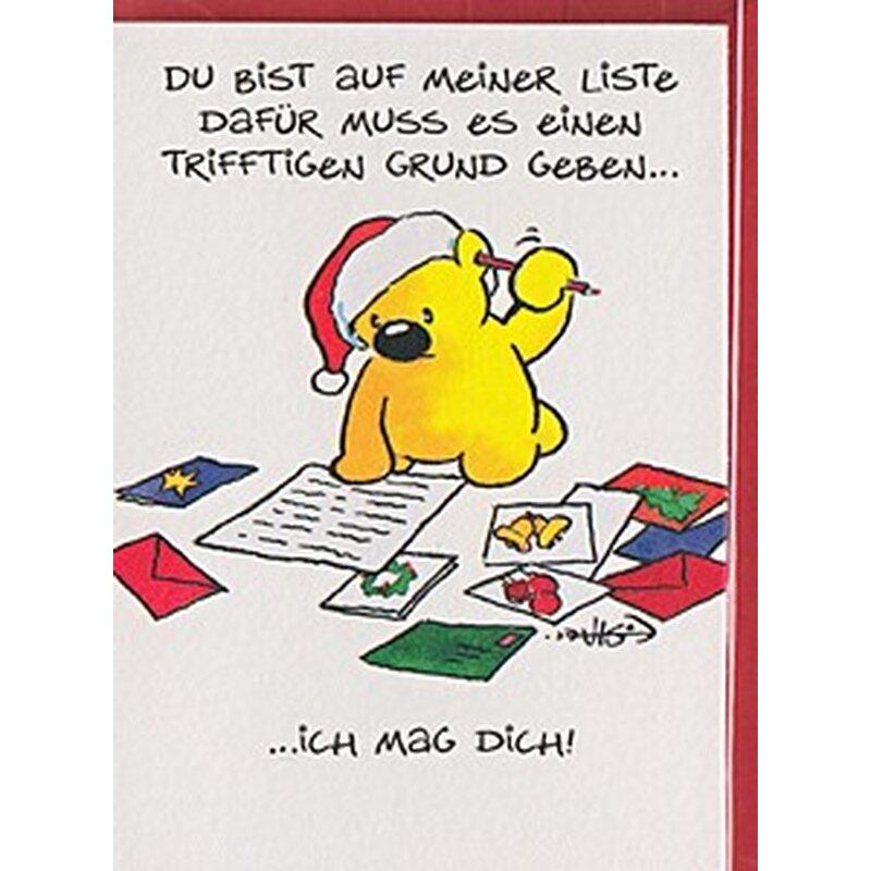 Minikarte Geschenkanhänger Ich mag Dich Bärchen