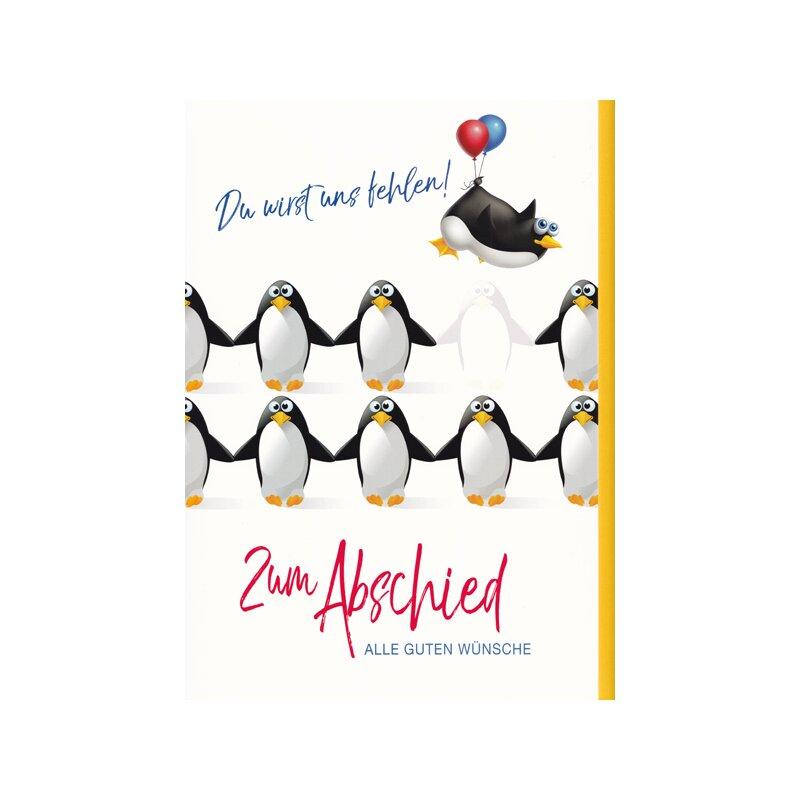Grußkarte E... Karte Postkarte Geschenkkarte Postkarte Pinguin Luftballon
