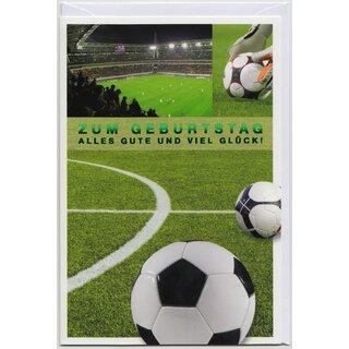 Geburtstagskarte Fussball Stadion Alles Gute Und Viel Gluck