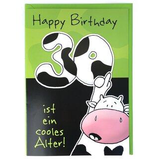 A4 Xxl Geburtstagskarte Lustig 30 Ist Ein Cooles Alter