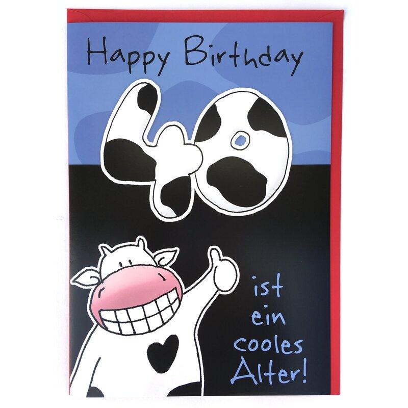 Geburtstagskarten 40 Geburtstag: A4 XXL Geburtstagskarte Zum 40. Lustig