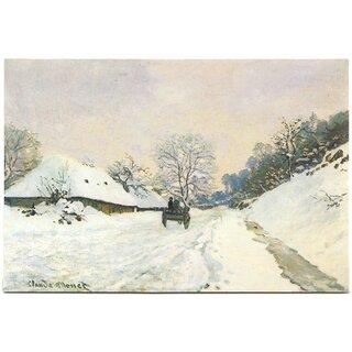Kunstkarte Claude Monet Winterlandschaft Der Einspanner