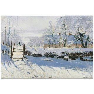Kunstkarte Claude Monet Winterlandschaft Mit Elster